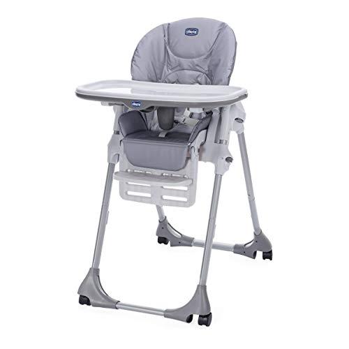 Chicco Polly Easy - Trona amplia, compacta y sencilla, 4 ruedas, para niños de 6 meses a 3 años, color...