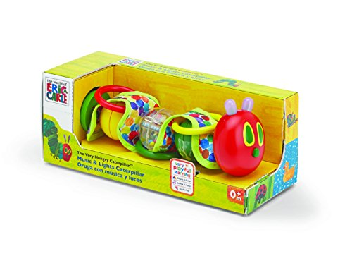 World of Eric Carle, The Very Hungry Caterpillar Wiggly Rattle Toy with Music and Lights by Kids Preferred by The World of Eric Carle