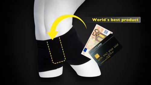 CleanU Spezial Unterhose mit Versteck Größe S