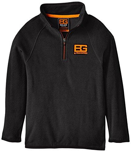 Bear Grylls Kid's Core Micro Fleece Jacke grau Black Pepper Size 5 - 6 -