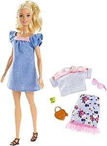 Barbie-FRY79 Muñeca Fashionista Rubia con Modas, Multicolor (Mattel FRY79)