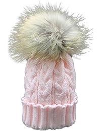 pour 1-4 ans bébé, Amlaiworld Bébé hiver Crochet chapeau fourrure laine Knit Beanie Cap chaud