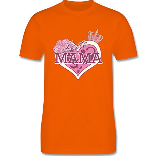 Statement Shirts - Beste Mama - Herren Premium T-Shirt Orange