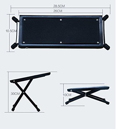 Imagen de reposapiés para  soporte de  clásica durable metal + pedal de goma pedal de  negro pedal de  alternativa