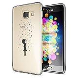NALIA Handyhülle für Samsung Galaxy A3 2016, Slim Silikon Motiv Case Hülle Cover Crystal Schutzhülle Dünn Durchsichtig Etui Handy-Tasche Backcover Transparent Phone Bumper, Designs:Colorful Rain