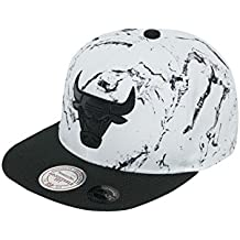 Mitchell   Ness Herren Caps Snapback Cap White and Black Marble Chicago  Bulls Weiß One ecb89896ec8
