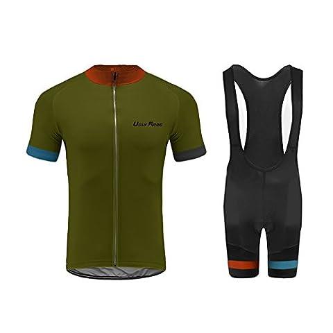 UGLYFROG # ZD08 Bike wear 2017 Nouveau Maillot+Bib Shorts Sets with Gel Pad de Cyclisme Vêtements Maillots Homme Manche courte Style d'été