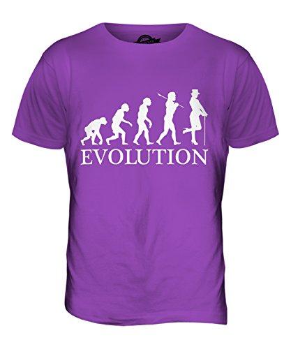 CandyMix Kabarett Tänzer Evolution Des Menschen Herren T Shirt Violett