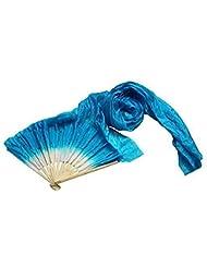 Hrph 1.8m Handmade Belly Multicolore Fans Danse Bambou Longue Soie Veils