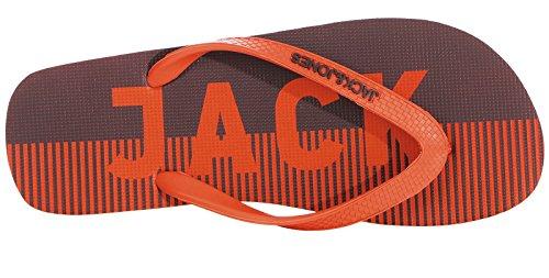 JACK & JONES Herren Zehentrenner Logo Pack 12132923 Firecracker 42/43