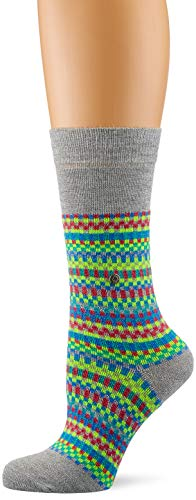Burlington Damen Fair Isle Socken, per pack Mehrfarbig (fume 3355), 36/41 (Herstellergröße: 36-41)