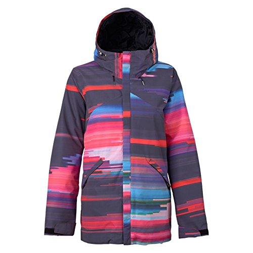 Burton Damen Cadence Jacket Snowboardjacke, Coral Flynn Glitch, S