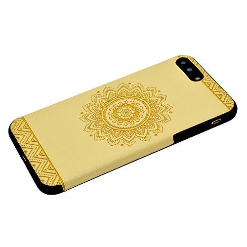 """inShang Hülle für iPhone 7 Plus 5.5"""" ,Ultra Schlank und leicht TPU Bequem Schutzhülle Rückcover (Back Case) design für Handy iPhone7 Plus 5.5 inch, Yellow printing"""