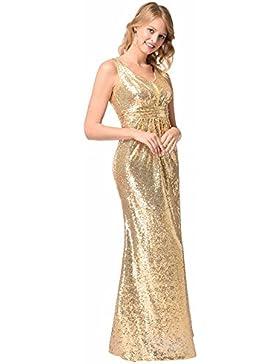 SJMMQZ Sexy Blonde Blonde vestido largo