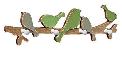 LAAT Kreative Vogel Haken Hänger Holz dekorative Haken Wand hängen Haken Tür Haken Kleidung Shop Wand montiert Mantel Haken Dekoration für Wohnzimmer Schlafzimmer Garten Badezimmer Kinderzimmer (Dekorative Holz-hänger)