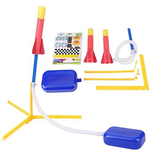 Zerodis Jump Rocket Launcher Foam Flying Rocket Launcher Sprung Fuß Trigger mit 2 Darts Spielzeug Geburtstagsgeschenk für Jungen
