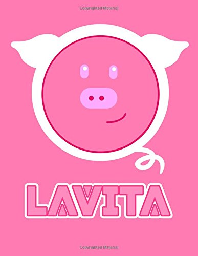 Lavita: Pink Pig 105 Lined Pages Journal, Diary, Notebook, Personalized with Name Christmas, Birthday, Friendship Gifts for Girls, Teens and Women por Black River Art
