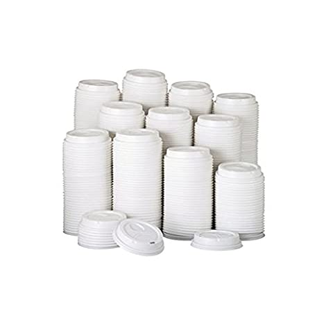 Dixie 9542500DXCT - Dome Drink-Thru Lids, Fits 10, 12 & 16 oz. Paper Hot Cups, White, 500/Carton by Dixie