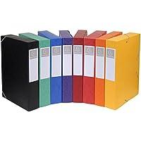 Exacompta 19500H - Pack de 10 carpetas de proyecto con goma, surtido: colores aleatorios
