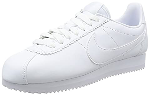 Nike Damen Classic Cortez Leather Sneaker, Weiß (White), 39 EU
