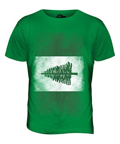 CandyMix Norfolkinsel Verblichen Flagge Herren T Shirt Grün