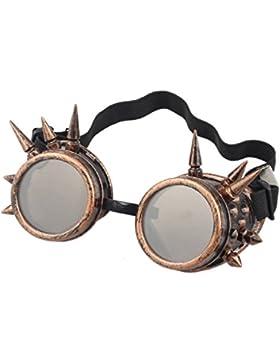 zolimx Remache de Steampunk al viento espejo Vintage gótico lentes gafas