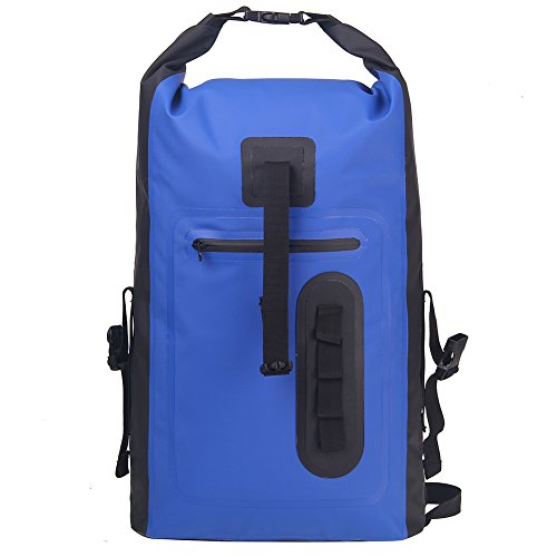 Esone Drybag, 30 l, wasserdicht, Unisex, Outdoor-Rucksack, zum Zelten / Reisen M blau