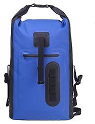 Esone - 30L Waterproof Dry Bag / Bolsa Seca Impermeable / Unisex Mochila Aire Libre / Morral que Acampa / Bolsas Viaje / Paquete de Admisión / Surf Natación Esquí Pesca (Azul)