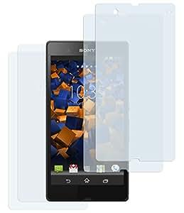 4x mumbi Displayschutzfolie für Sony Xperia Z Schutzfolie (2 x VOR und 2 x RÜCK Schutzfolie)