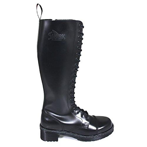 TANK Boots for Girls 20 Loch schwarz, Größe:07 (41)