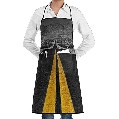 Sangeigt Küche, die Garten-Schürze kochtn, Chef Apron with Pockets Art Road Cooking Apron Home Kitchen Cooking ()