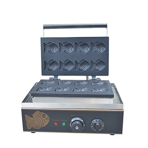 Hanchen Instrument? 8pces Korea Taiyaki Fish Shape Waffle Maker Cake Making Baking Machine (FY-112-B 110V)