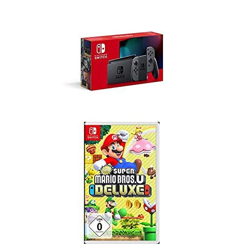 Nintendo Switch Konsole - Grau (2019 Edition) + New Super Mario Bros. U Deluxe - [Nintendo Switch]