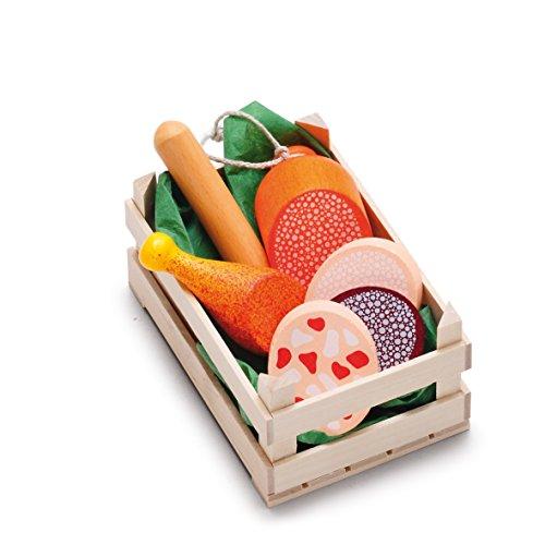 Salsicce Erzi assortimento di scatole di legno, piccoli, cibo giocattolo, Negozio degli...