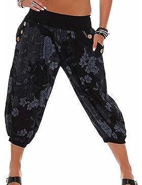 Mujer/Señoras 3/4 Bombachos Estilo Moda Capri Pantalones Harén Pantalones Cortos de Verano de Yoga,Mujer Casual...