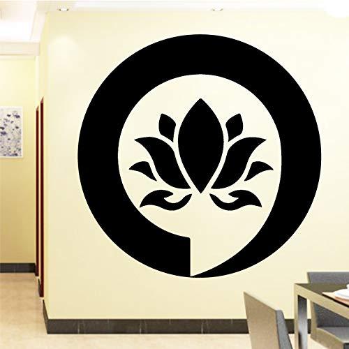 Zeichen Mandala Buddha Lotus Wandaufkleber Für Schlafzimmer Wohnkultur Blume Aufkleber Vinyl Aufkleber Wanddekoration-72x75 cm