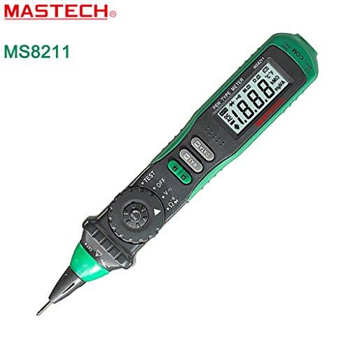 Mastech MS8211 Penna Multimetro Digitale Auto-Ranging Portabile, Rilevatore di Tensione,