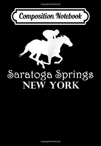 Composition Notebook: Saratoga Springs New York Horse Racing Jockey, Journal 6 x 9, 100 Page Blank Lined Paperback Journal/Notebook -