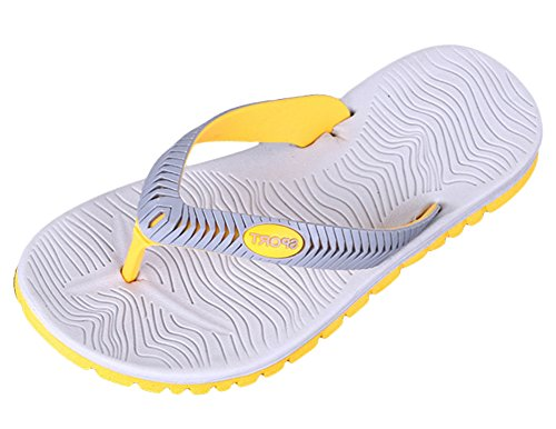 Scothen Sommer Sandale,Unisex Herren Jungen Garden Clogs Shoes Mens Garden Shoes Unisex Adult Sandals Slippers Slip strand Garten Pool Maultier EVA Holzschuhe Schuhe Summer Mountain Shoes Grau-Gelb