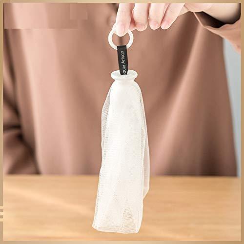 LadyBeauty Seifenbeutel für Bad Dusche Gesicht Seifenblase Blasenschaum Netz Doppelschichtseife