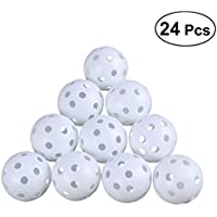 LEORX 24pcs Air Flow Hollow Golf Balls for Golf Practice (White)
