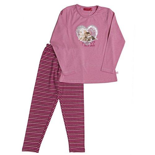 SALT AND PEPPER Mädchen Zweiteiliger Schlafanzug Pyjama-Paket Katze und Hund, Candy Pink