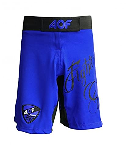 AQF Womens MMA Fitness Shorts Fight Vale Tudo Boxing bjj Ladies Blue Flexible (S)