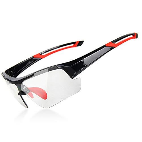 erhuo Myopie-Sonnenbrille Laufen Mountainbike Myopie Sport-Sonnenbrille, Rot B