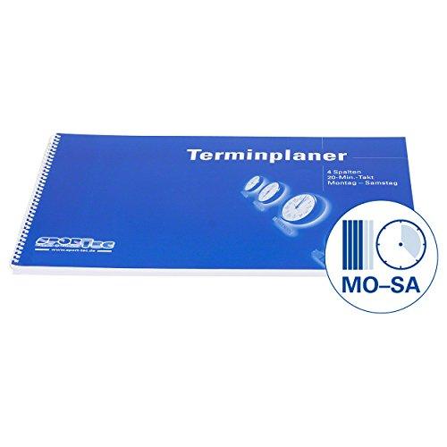 Terminplaner Organizer Terminbuch für Praxis & Therapie 4 Spalten 20 Min Mo.-Sa.