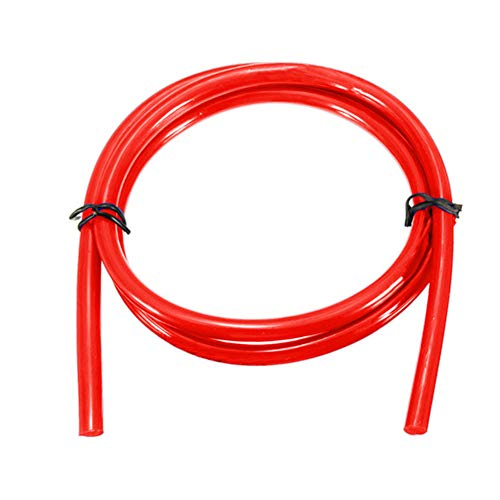 Tubo del carburante per moto, 1 m, tubo flessibile per carburante, gas, olio, benzina, 5 mm, I/D 8 mm O/D, moto, scooter, auto, rosso