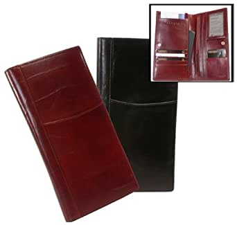 Bond Street 950096BLK Tuscany Leather Passport and Airline Ticket Case - Travel Wallet Color- Black
