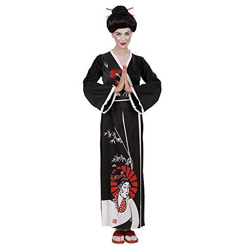 Widmann 58203 - Erwachsenenkostüm Geisha, Kimono, Gürtel und Stäbchen