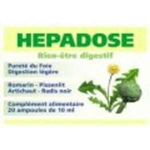 Hepadose - 20 ampoules - Bien être digestif