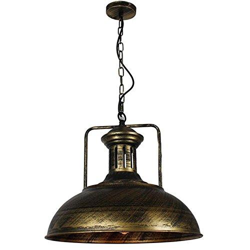 GRFH Neue antike Bronze hängende Lampe Cafe Restaurant Bar LOFT Bronze Eisen Cover Anhänger Lichter E27 110V-220V 41cm 110-220v sind reich Rost Lampe